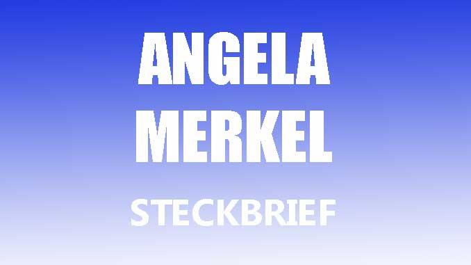 Teaserbild - Angela Merkel Steckbrief