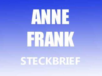 Teaserbild - Anne Frank Steckbrief