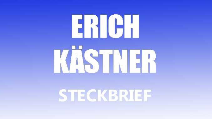 Teaserbild - Erich Kästner Steckbrief