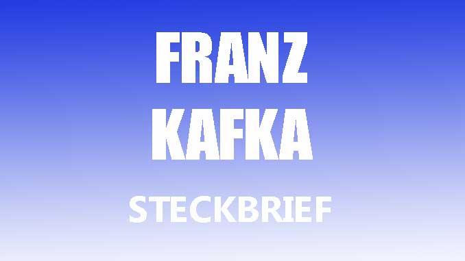 Teaserbild - Franz Kafka Steckbrief