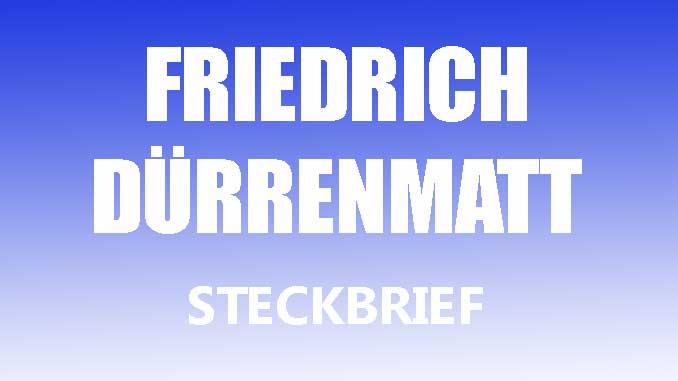 Teaserbild - Friedrich Dürrenmatt Steckbrief