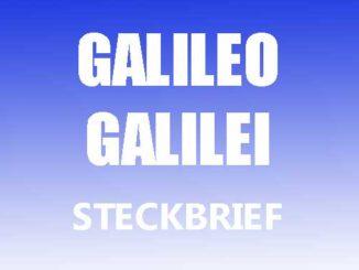 Teaserbild - Galileo Galilei Steckbrief