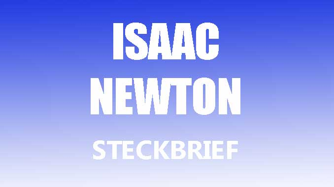 Teaserbild - Isaac Newton Steckbrief
