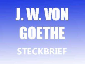 Teaserbild - Johann Wolfgang von Goethe Steckbrief