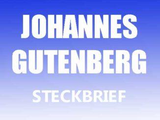 Teaserbild - Johannes Gutenberg Steckbrief