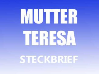 Teaserbild - Mutter Teresa Steckbrief