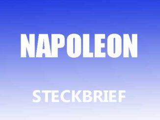 Teaserbild - Napoleon Steckbrief